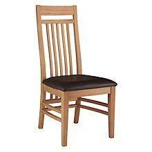 Lichfield Dark Brown Leather Solid Oak Dining Chair
