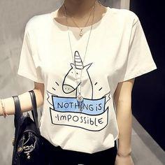 Summer T-shirt Female Cartoon Printed Short Sleeve Shirt Loose Thin short Sleeve Clothes For Women Xxl White And Black