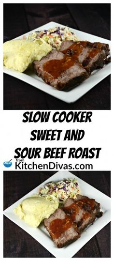 This is the easiest recipe to make.   Slow Cooker Sweet and Sour Beef Roast uses only a few ingredients and is delicious!  I love easy dinners like this.  Prepare quickly in the morning and come home to an amazing roast beef dinner with the tastiest gravy.  Serve with mashed potatoes and rice.  The gravy is perfect on both!  This is a recipe you will make over and over again!   https://kitchendivas.com/slow-cooker-sweet-and-sour-beef-roast/ via @2kitchendivas