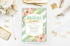 Bridal Shower Invitation Bridal Brunch Invite by DuffyDesignCo