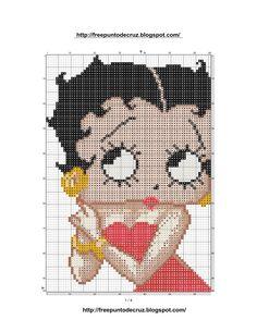 Dibujos Punto de Cruz Gratis: Betty Boop Cross Stitch Pattern - Punto de cruz