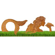 $180 Hope this won't cause accidents in front of our house! Look what I found at UncommonGoods: Mermaid Lawn Sculpture for $180 #uncommongoods