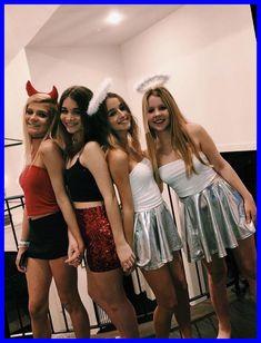 Halloween Costume Teenage Girl, Funny Group Halloween Costumes, Costumes For Teenage Girl, Best Friend Halloween Costumes, Halloween Halloween, Group Costumes, College Costumes, Friend Costumes, Halloween College