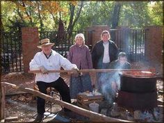 Applebutter stirring time.....must be fall in Roscoe!