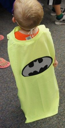 Superhero capes made from old T-shirts!