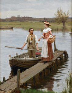 Edmund Blair Leighton - An Apple for the Boatman