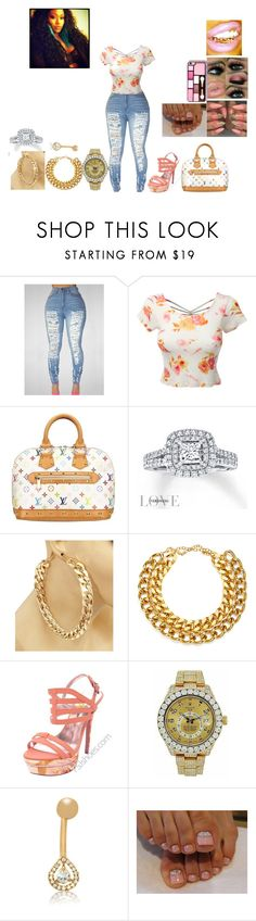 """Happy Birthday Triplets"" by queen-juice ❤ liked on Polyvore featuring LE3NO, Louis Vuitton, Vera Wang, A.V. Max, Rolex and Gioelli"