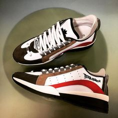 Vans Old Skool, Dsquared2, White Leather, Sneakers, Shoes, Fashion, Tennis, Moda, Zapatos