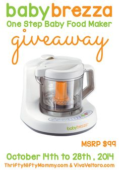 Baby Brezza One Step Baby Food Maker Giveaway | Parenting Patch