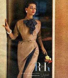 R&K Originals 1954 #GeorgiaHamilton #advertising #vintagemagazine #vintagefashion #1950s #1950sstyle #vintagedress #vintage #1950sfashion
