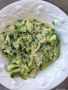 Zucchini Ribbons with Herbs & Parmesan Cheese