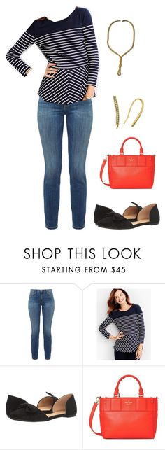 """""""Untitled #379"""" by pearse on Polyvore featuring Current/Elliott, Talbots, Report and Kate Spade"""