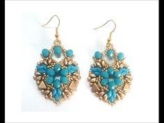 Seed Bead Jewelry, Seed Bead Earrings, Diy Earrings, Diy Jewelry Projects, Diy Jewelry Tutorials, Diy Projects, Handmade Beaded Jewelry, Earrings Handmade, Twin Beads