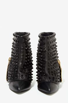 Battle Studded Leather Boots - Heels   Moto Boots   All