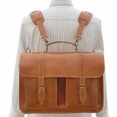 Grafea Postwar Leather Backpack Briefcase  - Caramel: Image 01