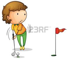 Ilustraci�n de un golfista joven photo