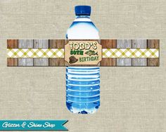 Printable FISHING WATER BOTTLE Labels - Fishing Themed Water Bottle Wraps - Fishing Birthday Party Water Bottle Labels - Fishing Bottle Wrap...