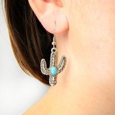 Turquoise Dangle Drop Earrings Blue Green Gemstone Jewelry Western Flare Boho Friendship Birthday Christmas Anniversary Wedding Bridal Gift