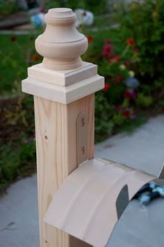 """Wooden Hose Holder - Instructions - You will need:     4X4"""" x 8' post (cut in half),  4"""" turned bun foot,  1 1/8"""" x 4 - 1/2"""" x 4 - 1/2"""" Hardwood Rosette,  7/8"""" x 3 - 3/4"""" x 3 - 3/4"""" Hardwood Rosette,  Hose Hanger"""