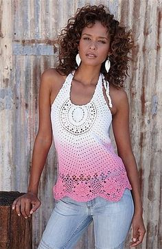 crocheted halter top pattern