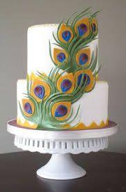 Resultado de imagem para peacock cake