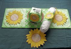 Sunflower Applique - Free Instant Machine Embroidery Designs