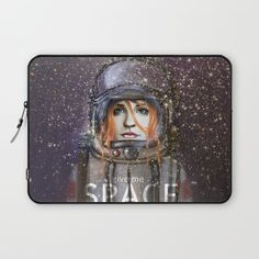 "LAPTOP SLEEVES	/ LAPTOP SLEEVE - 13"" Give me Space (Girl) by Fla'Fla' $36.00  DESCRIPTION Protect your laptop with a unique Society6 Laptop Sleeve.  Our form fitting, lightweight sleeves are created with high quality polyester - optimal for vibrant color absorption. The design is printed on both sides to fully showcase the artwork while keeping your gear protected. Pulling back the YKK zipper, you'll find the interior is fully lined with super soft, scratch resistant micro-fiber."