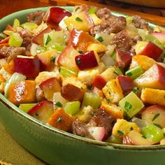 Smoky Sausage Apple Stuffing plus over more TABASCO® recipes perfect for menu planning and everyday meals. Apple Stuffing, Stuffing Recipes, Ham Recipes, Spicy Recipes, Apple Recipes, Christmas Recipes, Thanksgiving Recipes, Seafood Rice Recipe, Pork Ham