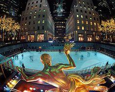 Ice Skating in The Rockefeller Center is definitely on my bucket list!