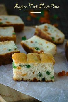 Eggless Tutti Frutti Cake ~