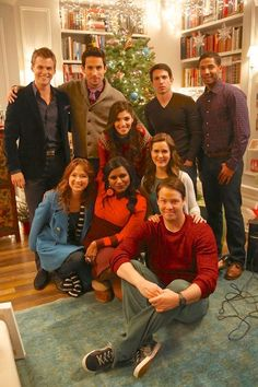"""""""Josh and Mindy's Christmas Party"""", The Mindy Project BTS Chris Messina, Warrior Names, Christmas Episodes, Famous In Love, Tv Show Music, W Two Worlds, The Mindy Project, Mindy Kaling, Jane The Virgin"""