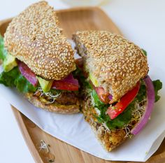 vegan-spicy-chili-burgers - Yummers!  I'm on a vegan burger kick, and I can't wait to make these!