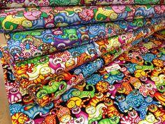 DESIGNER 100% cotton 148cm wide fabric, cat, for bunting, craft,100cm/50cm
