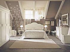 camera da letto mansardata shabby chic | Shabby chic bedrooms ...