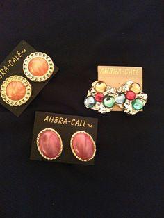 vintage clip on earrings AHBRA CALE  #AHBRACALE #ClipOn