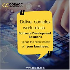 In this Tech-savvy world, Coracc Technologies provides advanced software development services to match the exact needs of businesses to reach a great height of success. Our agile and innovative-oriented approach helps us to deliver complex world-class Software Development Solutions. . . #coracctechnologies #custom #bespoke #agile #innovative #userfriendly #software #development #softwaredeveloper #softwaredevelopment #developers #softwareservices #maintenance #deploy #sdlc World Class, Software Development, Bespoke, Innovation, Success, Technology, Business, Taylormade, Tech