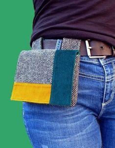 Pochette Portable, Belt Pouch, Hip Bag, Fabric Bags, Diy Fashion, Winter Fashion, Fashion Dresses, Fashion Tips, Diy Clothes