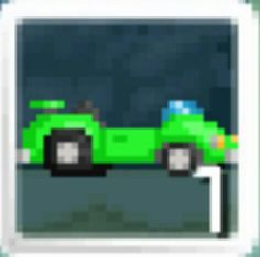 For all of you who are wondering how to make this, its a Red Car + 20 green blocks. And a Transmog Crystal, in a oven or a science station. Science Stations, Little Red Corvette, Fire Dragon, Dipper, Cars, Surgery, Green, Glasses, Crystals