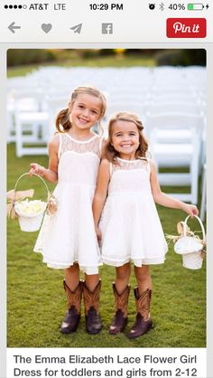 c461767a20b Guest Book Program girls outfits! Adorable! Flower Girl Dresses Country