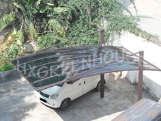 Source Pulling style modern prefab carport with strong aluminium frame on m.alibaba.com
