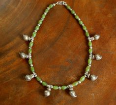 Tribal Mango Beads Necklace by CosmicNorbu on Etsy, $72.00