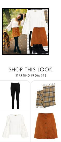 """""""Blogger Style: Zoe Sugg"""" by piinkroses ❤ liked on Polyvore featuring Boohoo, Burberry and Sea, New York"""