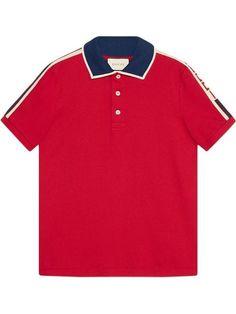 03b3d9b6dd0a Gucci Red Gucci Stripe Polo Shirt - Farfetch