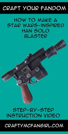 This Han Solo Blaster makes a great cosplay prop for your Han Solo Costume. This Star Wars DIY craft is perfect for your favorite scoundrel. Step-by-step instruction video from GeekyMcFangirl on YouTu Han Solo Kostüm, Han Solo Cosplay, Costume Star Wars, Jedi Costume, 50s Costume, Hippie Costume, Costume Halloween, Star Wars Dark, Star Trek