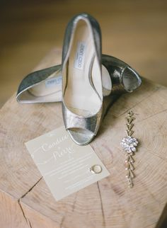 Jimmy Choos with a side of sparkle #accessories Photography: Greg Finck Photography - www.gregfinck.com  Read More: http://www.stylemepretty.com/2014/08/28/garden-wedding-in-the-french-countryside/
