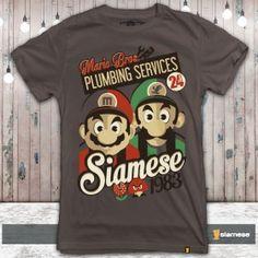 Camiseta Mario Bros Plumbing Services