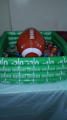 Football And Football Field Inflatable Cooler | Sports Theme Baby Shower |  Pinterest | Inflatable Cooler
