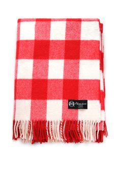 'Olaf's Summertime' check blanket. 100% lambswool. £60.00 Manufactured in Scotland