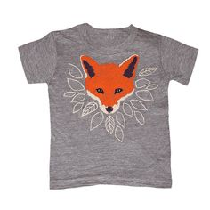 KIDS Fox T-shirt - Boy Girl Youth Toddler Children Tee Shirt Cute Orange Forest Nature Fantastic Mr Fox Animal What Would The Fox Say Tshirt