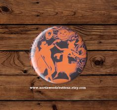 Retro Antique Halloween Silhouette Masquerade by NorthwoodsButtons